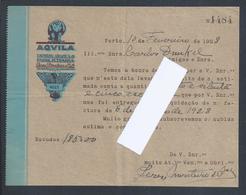 Carta Da Aquila (Águia) De Peres Monteiro & Cª, Porto Datada De 1928. Águia. Accipitridae Pandionidae. Eagle. Adler. - Portugal