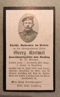 Sterbebild Wk1 Ww1 Bidprentje Avis Décès Deathcard LIR1 Landwehr IR1 Juni 1916 Aus Knesing St. Georgen - 1914-18