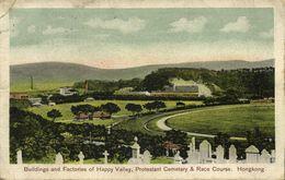 China, HONG KONG, Happy Valley, Protestant Cemetery, Race Course (1910) Postcard - China (Hong Kong)
