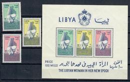LIBIA 1964 - GIORNATA NAZIONALE DELLA DONNA - SERIE E FOGLIETTO - MNH ** - Libia