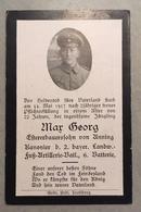 Sterbebild Wk1 Ww1 Bidprentje Avis Décès Deathcard 2. Landwehr Fuss AR Batl. MAISSEMY Block 4 Grab 1337 Aus Anning - 1914-18