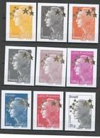 France - Yvert 4662A à 4662Q - 15 Valeurs Marianne De Beaujard - Grand Format** - 2008-13 Marianne Of Beaujard