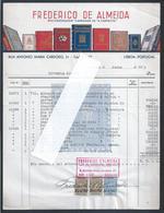 Fatura Do Encadernador De Livros Frederico De Almeida De 1951. A Carmelita.  Invoice Of The Bookbinder Frederico Almeida - Portugal
