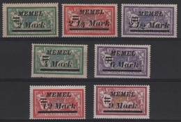 MEM 23 - MEMEL Merson N° 69/75 Neufs* - Neufs