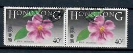 HONG KONG 1985 - FIORI - 2 VALORI USATI - Hong Kong (...-1997)