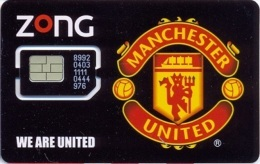 PAK-GSM : GZO08 ZONG Manchester United Limited Edition MINT In Folder - Pakistan