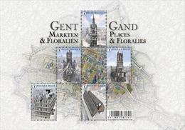 Blok 234** Gent, Markten En Floraliën / Gand Places Et Floralies 4581/85** - Belgium