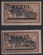 MEM 28 - MEMEL Merson PA 4 Papier GC Avec Variété Chifre Espacé Neufs**/* - Memel (1920-1924)