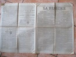 A DEPÊCHE DU 3 SEPTEMBRE 1901 JOURNAL DE LA REGION NORD LE TSAR EN FRANCE A DUNKERQUE,TAMPONNEMENT EN GARE D'AULNOYE.... - Journaux - Quotidiens