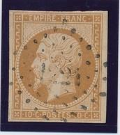 10 C Bistre N° 13 TB. - 1853-1860 Napoléon III
