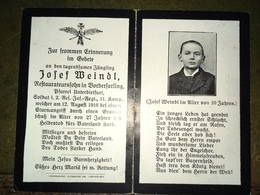 Sterbebild Wk1 Ww1 Bidprentje Avis Décès Deathcard RIR2 RANCOURT MAUREPAS August 1916 SOMME Aus Unterdietfurt - 1914-18