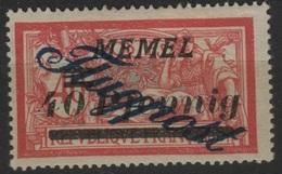 """MEM 31 - MEMEL Merson PA 8 VARIETE """"g"""" Avec Pointe Neuf* - Memel (1920-1924)"""