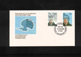 Australian Antarctic Territory 1983 Sir Douglas Mawson Davis FDC - FDC