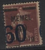 MEM 33 - MEMEL Semeuse N° 41 Obl. VARIETE Surcharge à Cheval Obl. - Memel (1920-1924)