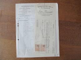 ANZIN JULES MASCART REPRESENTATION DIRECTE DE FABRIQUES COUTELLERIE,POTERIE 23 AVENUE DAMPIERRE FACTURE ET TRAITE 1924 T - Frankreich