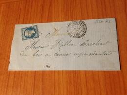 SAINT VALLIER DE THIEY ( 06) 1862  - Pc 3301-indice 25 (pothion) Cachet Pérlé   (port à Ma Charge ) - Postmark Collection (Covers)
