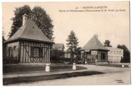 CPA 78 - MAISONS LAFFITTE (Yvelines) - 41. Entrée Etablissement Franck Jay Gould - Maisons-Laffitte