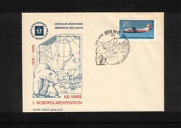 Deutschland / Germany DDR 1970 100 Years Of North Polar Expeditions Interesting Cover - Forschungsprogramme