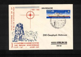 Deutschland / Germany DDR 1969 10 Years Of DDR+SSSR Antarctic Researches Interesting Cover - Antarktis-Expeditionen