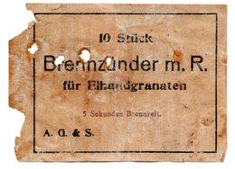 étiquette De Boite D'allumeurs - 1914-18