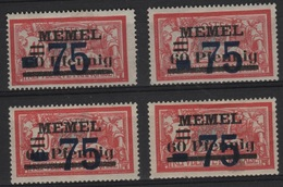 MEM 46 - MEMEL Merson N° 42 Neufs* 4 Variétés De Surcharges - Memel (1920-1924)
