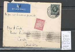 France  -Lettre Southampton Vers Corte - Corse - 1936 - Taxe De Poste Restante - 1921-1960: Modern Period