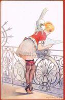 L.PELTIER- Illustrateur Signé - Les Balcons De La Parisienne  -Série N° 17 -82-écrite 1918- Scans Recto Verso-PaypalFree - Illustrators & Photographers