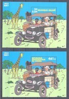 België 2X KUIFJE In CONGO Blok 93** En 205** / Belgique TINTIN Au Congo Blocs 93 Et 205 MNH - Blocks & Sheetlets 1962-....