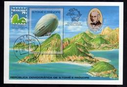 SAO S. SAN TOME' E PRINCIPE 1979 BRASILIANA 79 EXPO BLOCK SHEET BLOCCO FOGLIETTO BLOC FEUILLET USED USATO OBLITERE' - Sao Tomé E Principe
