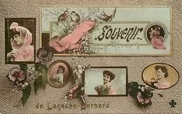 - Morbihan -ref-D738- La Roche Bernard - Souvenir De .. - Multi Vues Portraits De Femmes - Cart Colorisée Bon Etat - - La Roche-Bernard