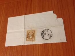 GUILLAUMES (06) -1861- Pc 4218- Num 13 A -  Sur Fragment   (port à Ma Charge ) - 1849-1876: Periodo Clásico