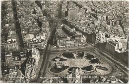W4216 Barcelona - Plazas Cataluna Desde El Aire - Vista Aerea Aerial View Vue Aerienne Panorama Aereo / Viaggiata 1956 - Barcelona