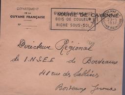 Pli Administratif En Franchise Postale, Mairie De Cayenne Guyanne Française - Marcophilie (Lettres)