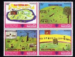 PAKISTAN 1980 RICCIONE 80 EXPO PHILATELIC ESPOSIZIONE FILATELICA BLOCK BLOCCO BLOC MNH - Pakistan