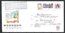 Russland RUSSIA 2005 Illustrated Stationery Cover To Estonia Statue Marssal A. Vasilevski Kaliningrad - 1992-.... Fédération