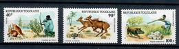 TOGO 1975 - 3 VALORI DEL PERIODO - ANIMALI  - MNH ** - Togo (1960-...)