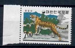 COREA DEL SUD 1966 - FAUNA ANIMALI TIGRE - 1 VALORE - MNH ** - Corea Del Sud