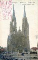 Ostende -  Nouvelle église - Entrée Principale - Tampon Restaurant - Oostende