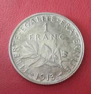 1 FRANC    1913   SEMEUSE     ARGENT          N°356D - France