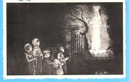 """Religion-Vierge Marie-Beauraing-1958-L'Apparition-(d'après Une Eau Forte De G.d'Armenton)-Dessin -Edit. """"Pro Maria"""" - Vierge Marie & Madones"""