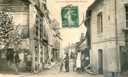 61 - Longny - Rue Saint Hubert Et Place Maubert - Un Charpentier Part Livrer Une Poutre - Longny Au Perche