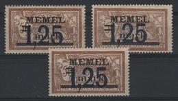 MEM 51 - MEMEL Merson N° 43 Neufs**/* X 3 - Memel (1920-1924)