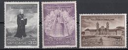 Vaticano 1961 Uf. 298/300 San Meinrado - Abbazia Ensiedel - Madonna Nera MNH Full Set - Cristianesimo