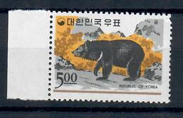 COREA DEL SUD 1966 - FAUNA ANIMALI ORSO - 1 VALORE - MNH ** - Corea Del Sud