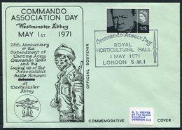 1971 GB Commando Association Day, Westminster Abbey Cover. British Army, Winston Churchill - 1952-.... (Elizabeth II)