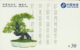 TARJETA DE CHINA. BONSAI, CNT-300-P1-5(5-2). (682) - Fleurs