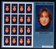 GHANA GANA 1995 JOHN LENNON BEATLES BLOCK SHEET BLOCCO FOGLIETTO BLOC FEUILLET MNH - Ghana (1957-...)