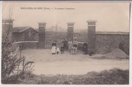 BAILLEUL LE SOC (60) : NOUVEAU CIMETIERE - LES CANTONNIERS - CLICHE PEU COURANT - ECRITE  EN 1917 -d 2 SCANS D- - Autres Communes