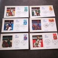 FRANCE CEF 6 Enveloppes SOIE 1er Jour Série NAPOLEON 1ER ET LA GARDE IMPERIALE 2004 - Collection Timbre Poste - 2000-2009