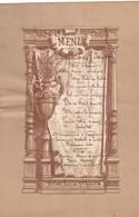 37 TOURS. RARETÉ. MENU . BANQUET DU  7 JUIN 1914. RESTAURANT MICHIN. 36 PLACE DU GRAND MARCHE. FORMAT 22 X 14,5 Cm - Menu